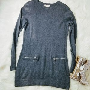 MICHAEL KORS Gray Long Sleeve Knit Tunic Sz S - H3